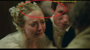"On the movie still, Fantine (Hathaway) can be seen ""excusing herself"" for the next movie sequence."