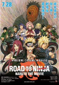 Road to Ninja: Naruto the Movie theatrical poster © Masashi Kishimoto; TohoRoad to Ninja: Naruto the Movie theatrical poster © Masashi Kishimoto; Toho