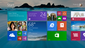 Windows 8.1 offers more colors and backgrounds for the Start screen – including ones with motion.