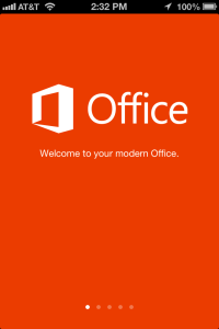 Microsoft Office Mobile for iOS