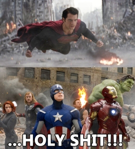 DC's Superman vs Marvel's The Avengers