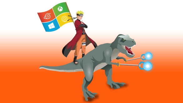 A true ‪#‎ninja‬ riding a TRex! ‪#‎Windows10‬ ‪#‎Ninjacat‬ ‪#‎UpgradeYourWorld‬ ‪#‎UpgradeYourDay‬ ‪#‎BestWindowsEver‬ ‪#‎MicrosoftFanboy‬ ‪#‎Technology‬ ‪#‎Tech‬ ‪#‎TechToday‬ ‪#‎Naruto